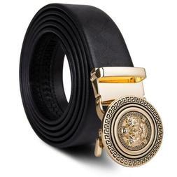 USA Designer Gold Tiger Automatic Buckles Mens Belts Black G