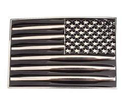 USA FLAG Chrome and Black belt buckle military army navy mar