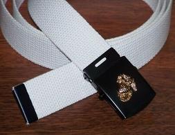 USMC Belt & Buckle Web Marine Corps Parade Dress Military St