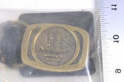 """VINTAGE Captain Black Brass BELT BUCKLE in Sealed Package 2"""""""