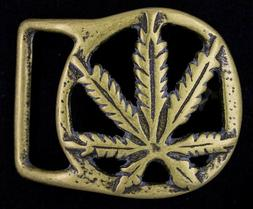 VINTAGE BS 3501 SOLID BRASS HEMP BELT BUCKLE 1 1/2 INCH WIDE