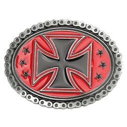 Vintage Men's Cross Belt Buckles for women Western Cowboy Na