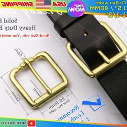 vintage solid brass belt buckle for men