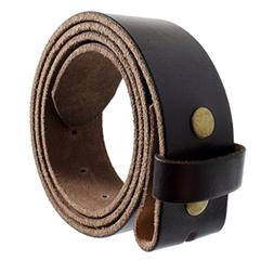 Vintage Style Genuine Full Grain Leather Belt Strap without