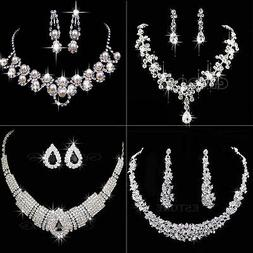 Vogue Prom Wedding Bridal Silver Jewelry Crystal Rhinestone