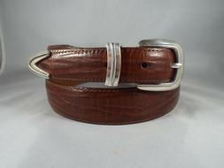 VTG Men's Onyx Brighton Mahognay Full Grain Leather Tapered