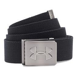 Under Armour Men's Webbed Belt, Black /Graphite, One Size
