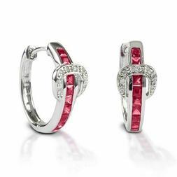 WESTERN ENGLISH BRIDLE SADDLE BELT  Buckle Hoop Earrings-Ste