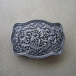 Western Flower Pattern Metal Belt Buckle
