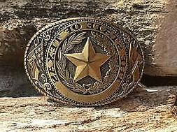 Western Rodeo TEXAS Cowboy Lone Star Belt Buckle