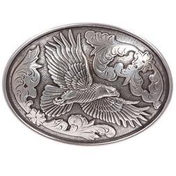 Western Silver Eagle Oval Belt Buckle