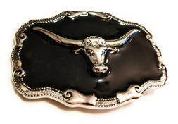 western steer cowboy rodeo style belt buckle