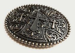 ✖ WESTERN STEER Cross Cowboy Rodeo Style ✖ Belt Buckle B
