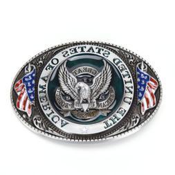 WesternstyleNew U.S.A. American flag eagle metal alloy fashi