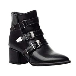 Women's Winter Sexy Belt Buckle Ankle Boots Chunky Square Hi
