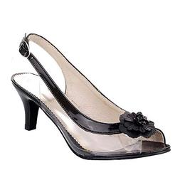 Oliviavan Women's Flower Sandals Belt Buckle Stiletto Shoes