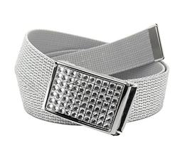 Women's Clear Crystal Flip Top Belt Buckle with Canvas Web B