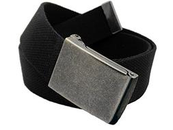 Women's Distressed Silver Flip Top Military Belt Buckle with