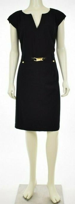 Calvin Klein Women's Dress Sheath Sleeveless Pleated Faux-Be