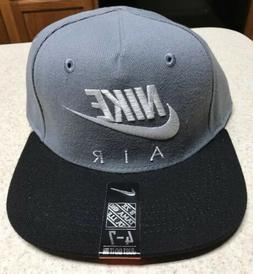 Youth Nike Air Snapback Hat Grey Black White 8A2653 146