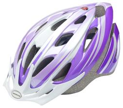Schwinn Thrasher Youth Microshell Bicycle Helmet, Purple/Whi